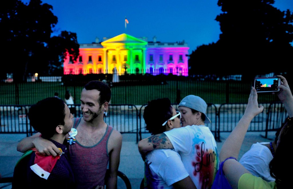 Multi-Colored Lights Illuminate The White House To Honor Gay Marriage