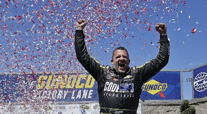 Tony Stewart in Winner's Circle